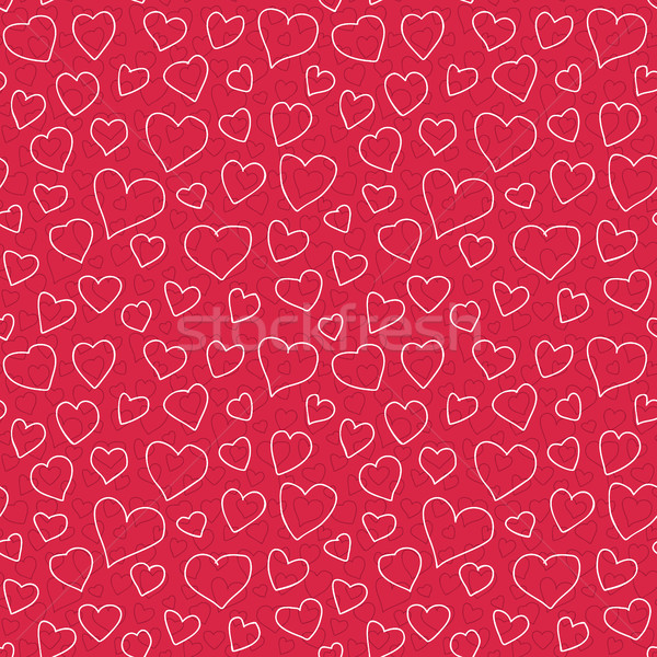 Abstrato corações rabisco textura Foto stock © creativika