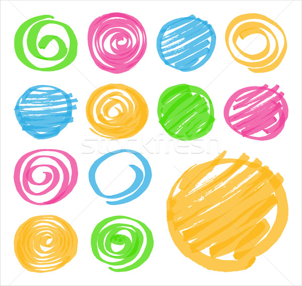 Highlighter Shaded and Spiral Design Elements Stock photo © creativika