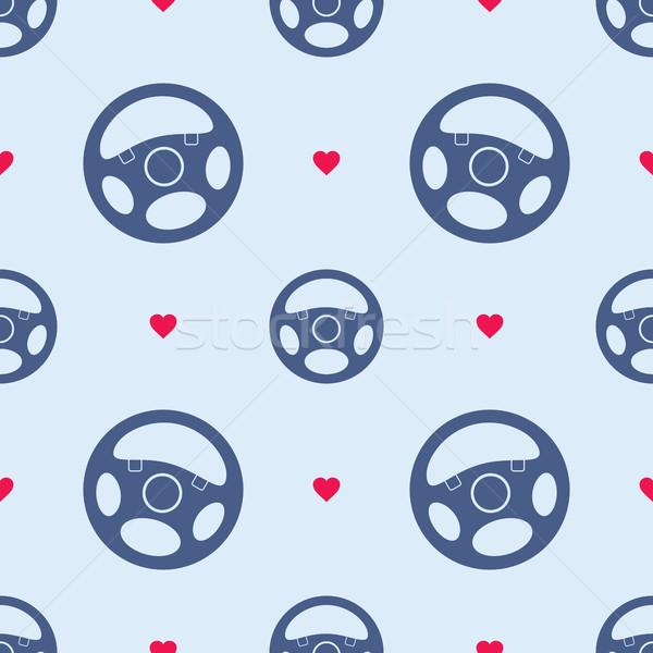 Carro volante corações sem costura Foto stock © creativika
