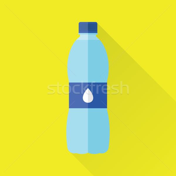 şişe tatlısu ikon plastik stil yalıtılmış Stok fotoğraf © creativika