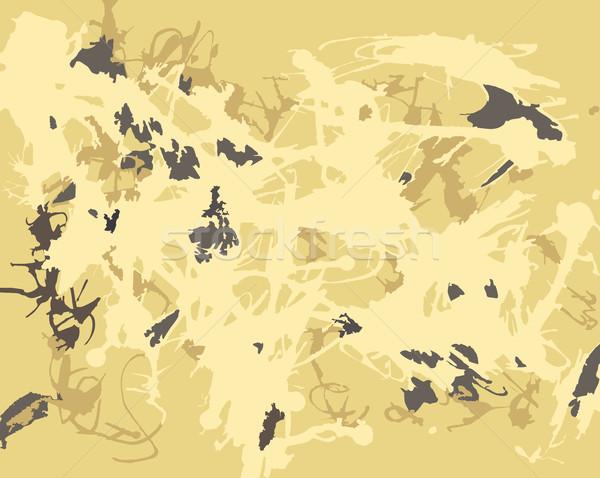 Soyut sıçramak artistik boya altın renkler Stok fotoğraf © creativika
