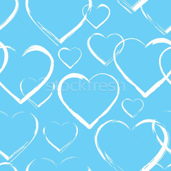 Seamless pattern with hearts Stock photo © creativika