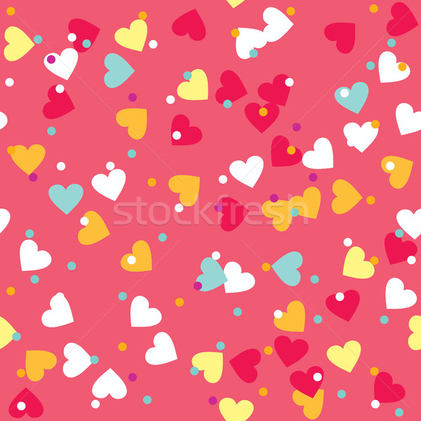 Colorful Sprinkles Donut Glaze Seamless Pattern Stock photo © creativika