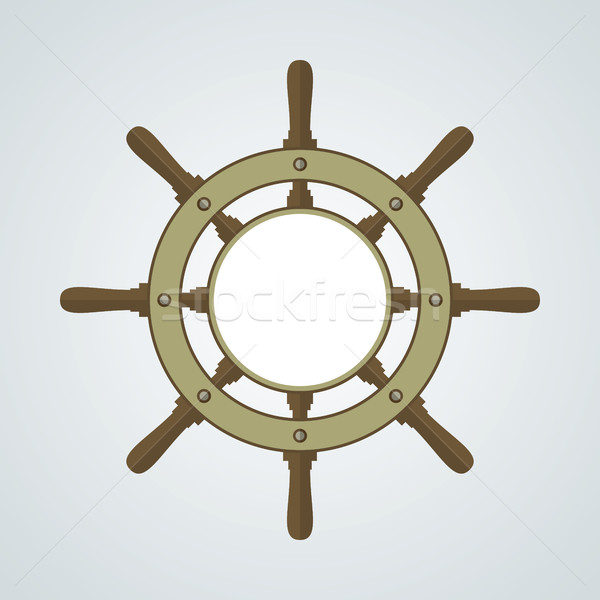 Ship Helm Vector Background Stock photo © creativika