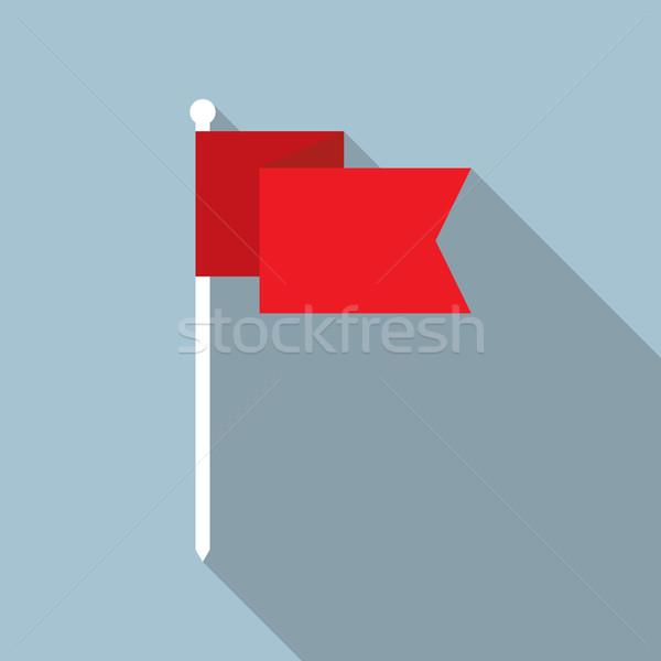 Pavillon vecteur icône design rouge style Photo stock © creativika