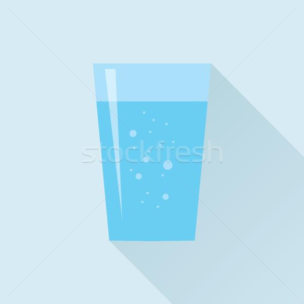 Cam tatlısu ikon taze su stil Stok fotoğraf © creativika