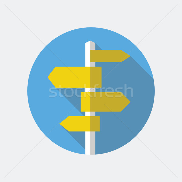 Placa sinalizadora ícone poste de sinalização estilo modelo Foto stock © creativika