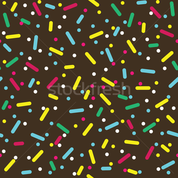 Colorful Sprinkles Donut Glaze Seamless Pattern Stock photo © creativika