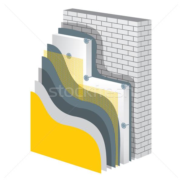 Thermal Insulation. Polystyrene Isolation Vector Illustration Stock photo © creativika
