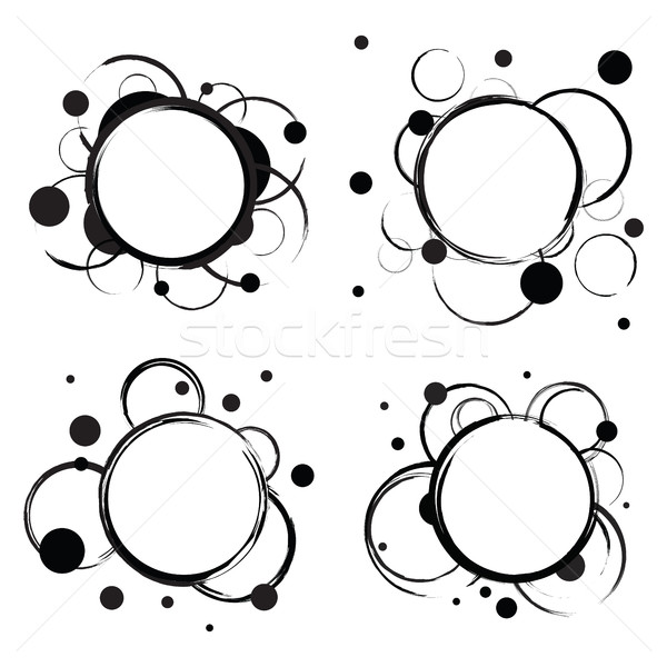 Set of Abstract Circles Badges Stock photo © creativika