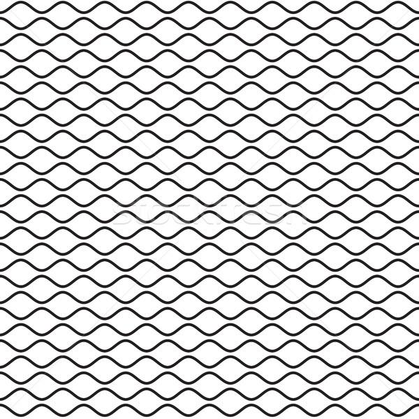 Nero ondulato line onde linee Foto d'archivio © creativika