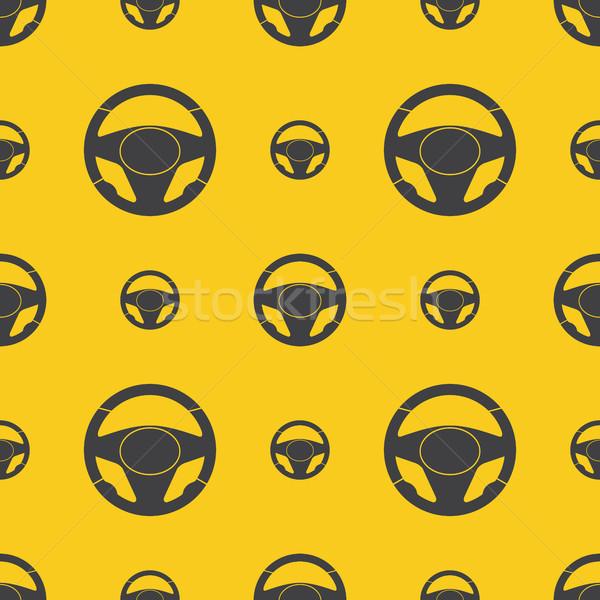 Steering Wheels Seamless Pattern Stock photo © creativika