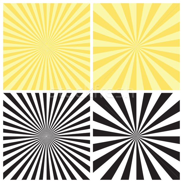 Set of Radial Sunburst Backgrounds Stock photo © creativika