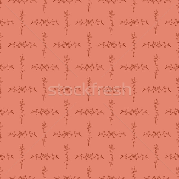 Kézzel rajzolt virágmintás végtelen minta konzerv használt tapéták Stock fotó © creativika
