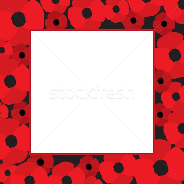 Poppies Vector Frame Stock photo © creativika