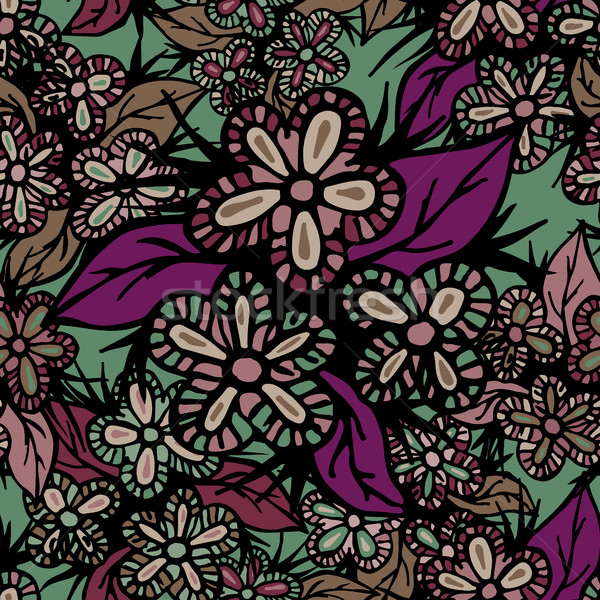 Boho Style Hand Drawn Seamless Pattern Stock photo © creativika