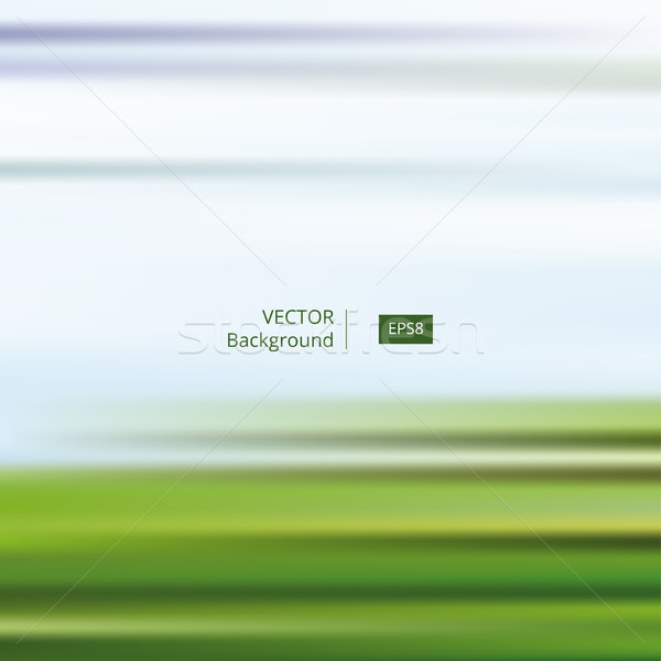 Abstract Blue Green Striped and Blurred Background Stock photo © creativika