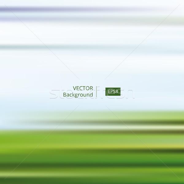 Résumé bleu vert rayé floue ciel bleu Photo stock © creativika