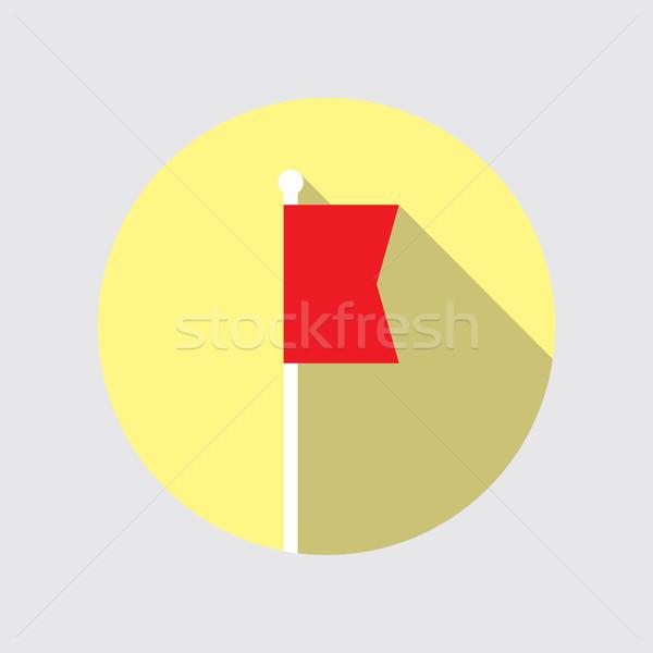 フラグ ベクトル アイコン デザイン 赤 スタイル ストックフォト © creativika