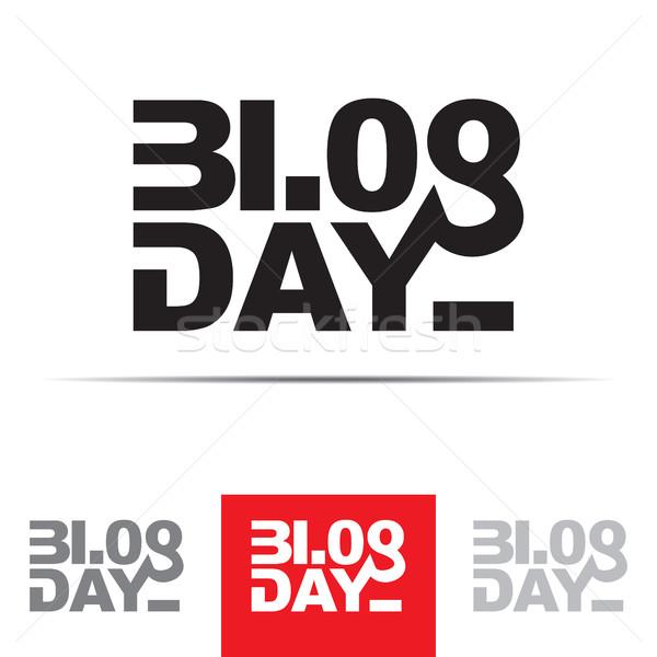 Blog giorno segno parola numeri agosto Foto d'archivio © creativika