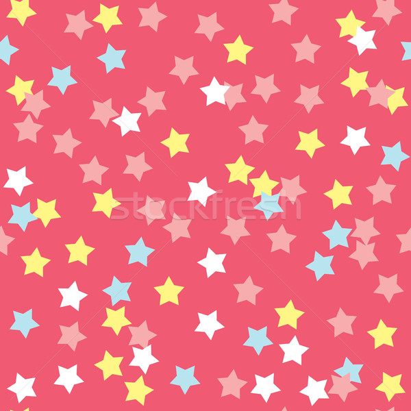 Colorido rosquinha creme textura estrelas Foto stock © creativika