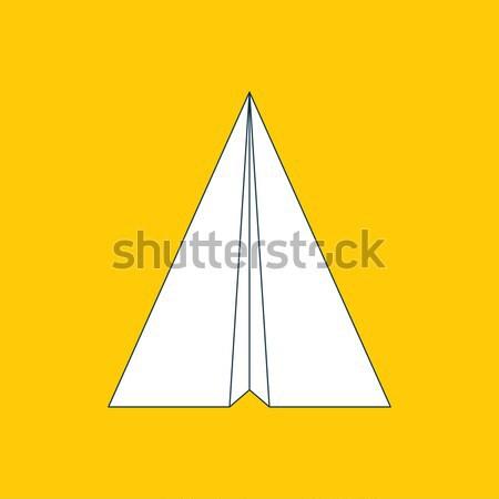 Papel avião ícone origami avião símbolo Foto stock © creativika