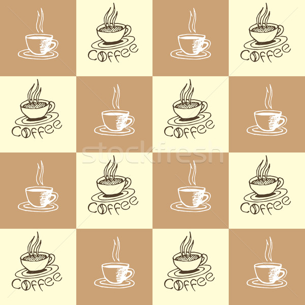 Coffee Seamless Pattern Stock photo © creativika