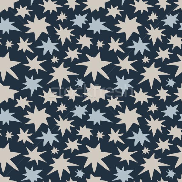 Résumé ciel de la nuit étoiles coloré stylisé Photo stock © creativika