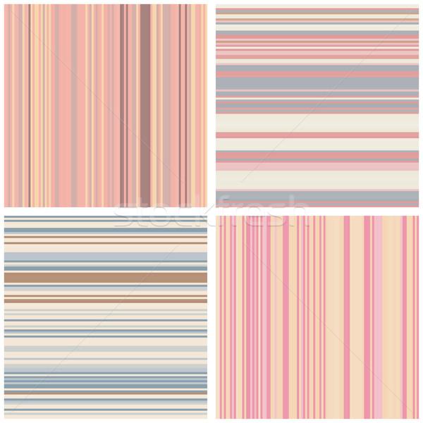 Abstract strisce set può Foto d'archivio © creativika