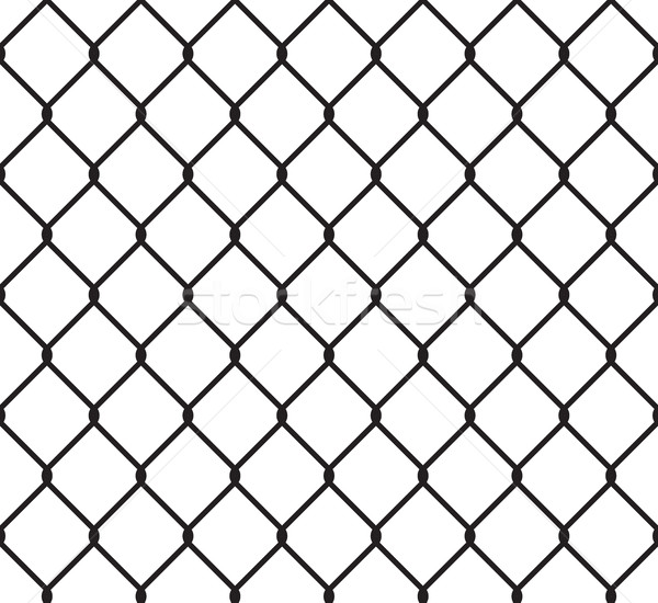 Metallic wired fence seamless pattern Stock photo © creativika