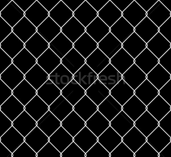 Aço cerca sem costura textura metálico Foto stock © creativika