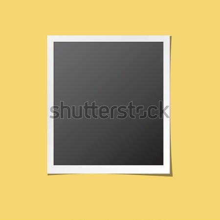 Papel photo frame isolado vetor branco para cima Foto stock © creativika