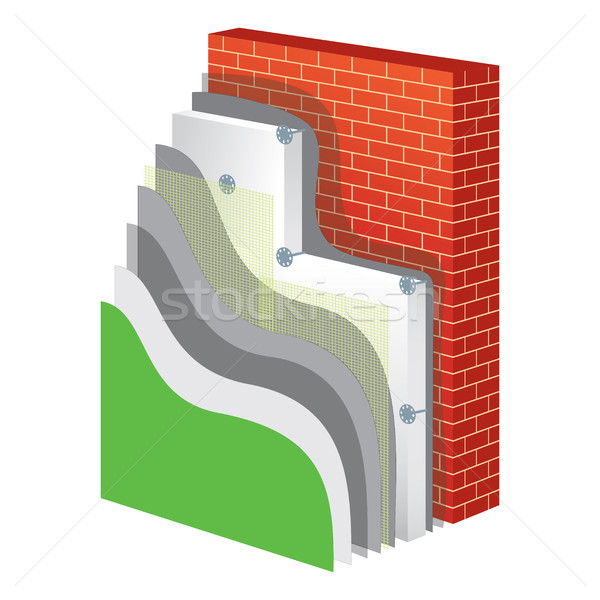Thermal Insulation. Polystyrene Isolation Vector Illustration Stock photo © creativika