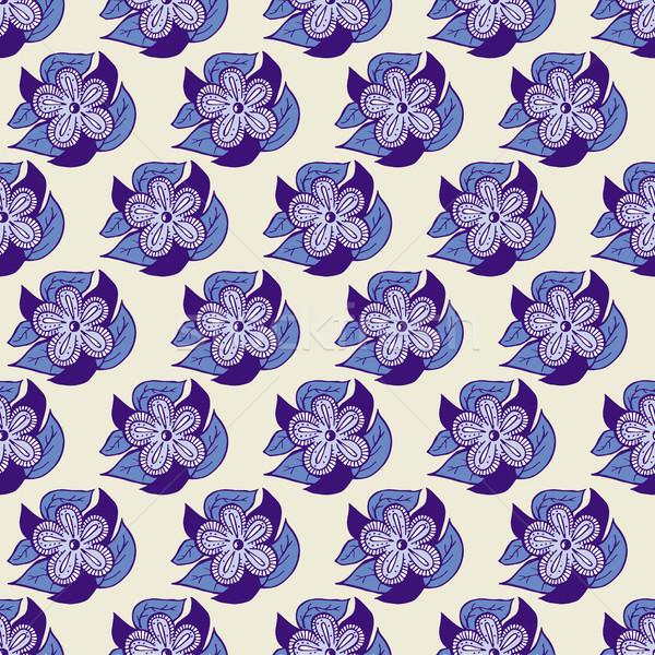 Boho Style Hand Drawn Seamless Pattern Stock photo © creativika