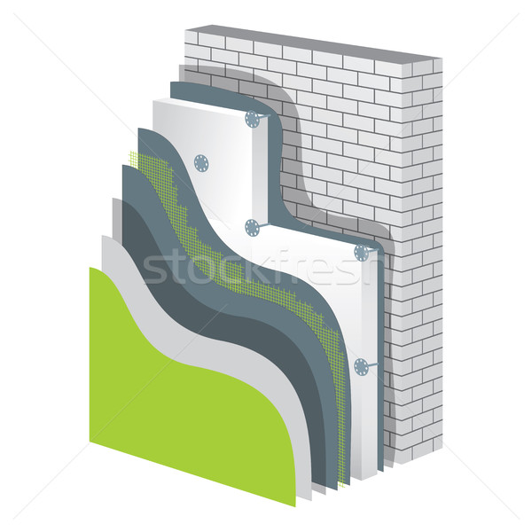 Insulation. Polystyrene Thermal Isolation Vector Illustration Stock photo © creativika