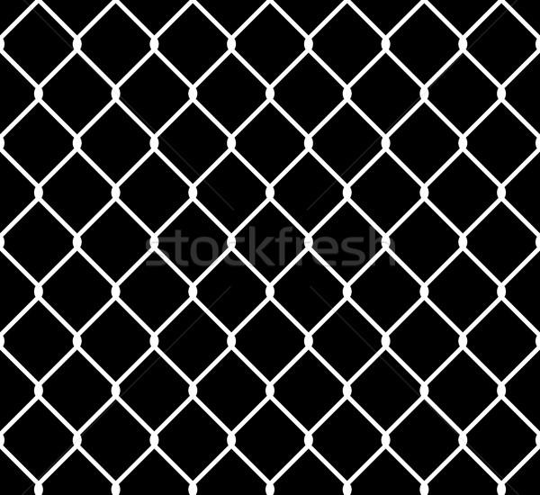 Wired Steel Fence Seamless Pattern Overlay Stock photo © creativika