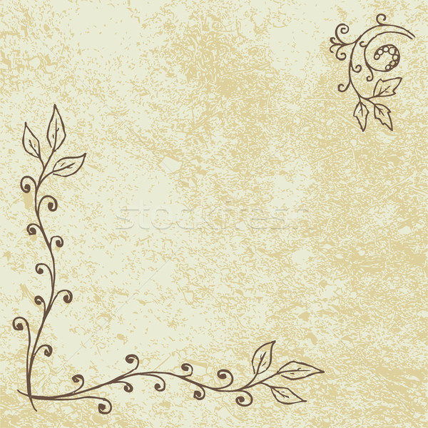 Grunge Floral Background with Empty Space Stock photo © creativika