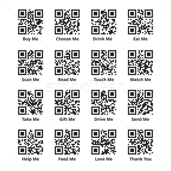 QR Codes Set for Goods and Sales Stock photo © creativika