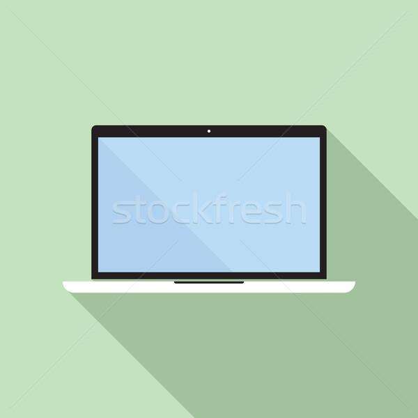 ноутбука икона отображения вектора стиль пусто Сток-фото © creativika