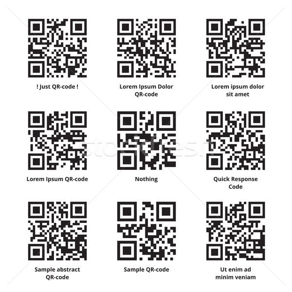 Sample Lorem Ipsum QR Codes Set Stock photo © creativika