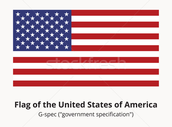 USA Flag or American flag in correct proportion and colors Stock photo © creativika