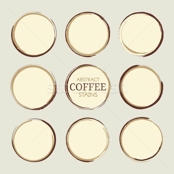 Abstrato café xícara de café conjunto vetor Foto stock © creativika