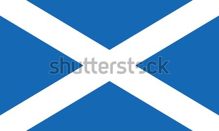 Flag of Scotland also known as St Andrews Cross or the Saltire Stock photo © creativika