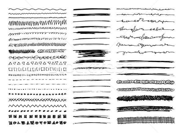 Line set sketch design Foto d'archivio © creativika