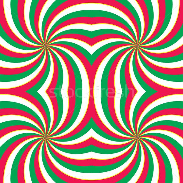 Hipnótico vórtice vermelho verde branco Foto stock © creativika