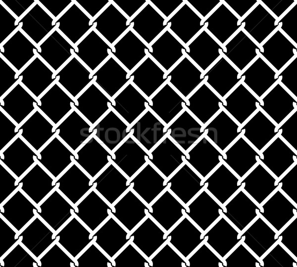 Metallic Wired Fence Seamless Texture Overlay vector illustration ...