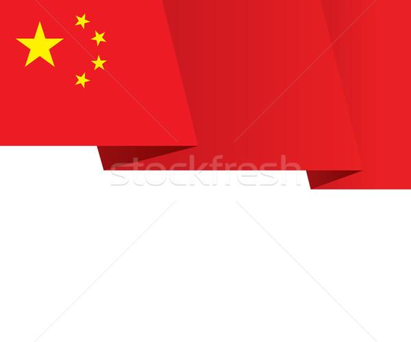 China Fluttering Flag Background Stock photo © creativika