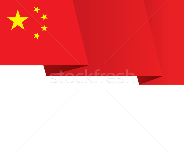 Cina bandiera rosso banner cinque Foto d'archivio © creativika