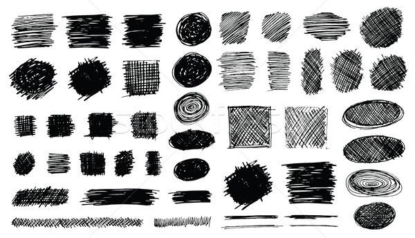 Forme set simboli isolato bianco Foto d'archivio © creativika