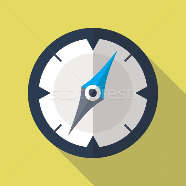 Compass Flat Icon Stock photo © creativika